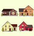 a set of houses to create a cityscape design vector image vector image