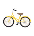 a yellow bicycle vector image vector image