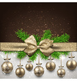 Abstract background with christmas balls vector image vector image