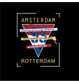 amsterdam print design typhography vector image vector image