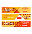 autumn sale text banners for september vector image