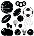 balls silhouettes vector image vector image