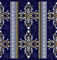 baroque striped seamless pattern greek ornaments vector image
