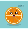 cartoon orange sliced fruit facial expression vector image