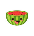 cartoon watermelon isolated on white vector image vector image