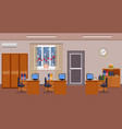 christmas office room interior decoration holiday vector image vector image