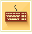 Classic Computer Keyboard flat icon vintage vector image vector image
