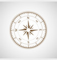 compass wind rose retro template vector image
