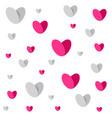 couple white pink hearts seamless vector image vector image