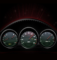 Dashboard vector image vector image