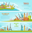 design three horizontal banners of vector image vector image