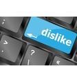 dislike key on keyboard for anti social media vector image
