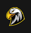 eagle head design vector image vector image