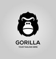 gorilla logo with kettlebell symbol emblem on a vector image