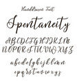 hand drawn letters lettering and custom vector image vector image