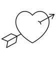 heart with arrow icon vector image vector image