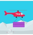Helicopter Worldwide Warehouse Delivering vector image vector image