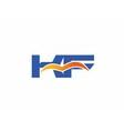KF Logo Graphic Branding Letter Element vector image vector image