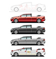 landaulet wedding cars vector image vector image