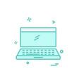 laptop icon design vector image vector image