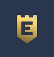 letter e shield logo icon design template elements vector image