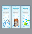 Medical Banner Vertical Set vector image vector image