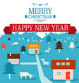 Merry Christmas Card Xmas Background New Year vector image vector image