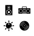 musical simple related icons vector image