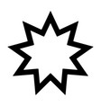 nine pointed star - symbol bahai faith icon vector image vector image