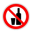 No drinking sign 204 vector image vector image