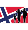 Norway soldier family salute vector image vector image