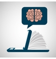 online learning education brain knowledge vector image