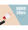 open 24 hours Flat design business vector image