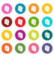 pants pockets design icons set colorful circles vector image