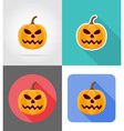 pumpkins for halloween flat icons 08 vector image vector image