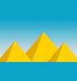 pyramid landscape egyptian design background vector image