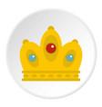 queen crown icon circle vector image vector image