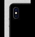 realistic smartphone camera vector image vector image