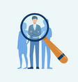 recruitment and hiring concept vector image vector image