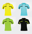 referee jersey vector image vector image