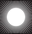 retro star style circle halftone background vector image