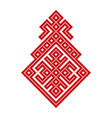 russian old embroidery and pattern vector image