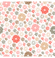 seamless floral pattern endless background vector image vector image