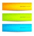 Set of Colorful Bright Circular Pixel Banners vector image vector image