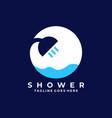 shower design template vector image