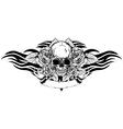 skull roses tribal vector image vector image