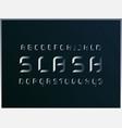 slash metal alphabet letters vector image