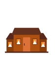 Small brown cottage icon vector image