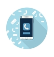 Smartphone call and sends message vector image