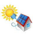 solar energy electricity in the house vector image vector image